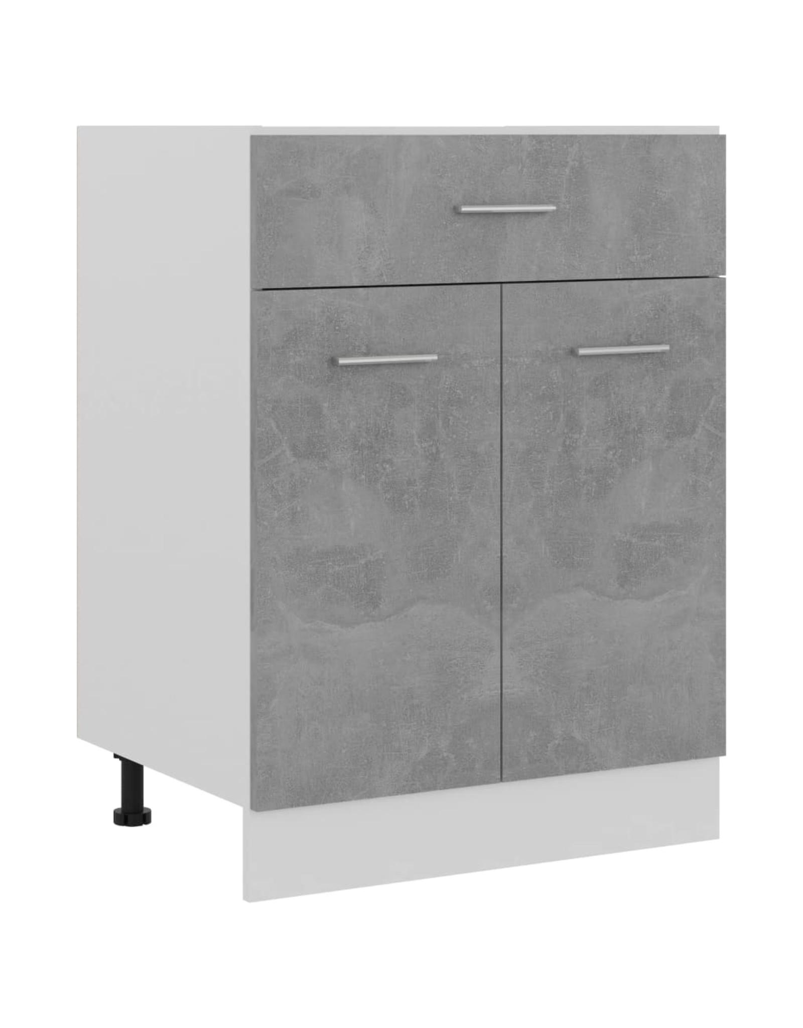 Onderkast met lade 60x46x81,5 cm spaanplaat betongrijs