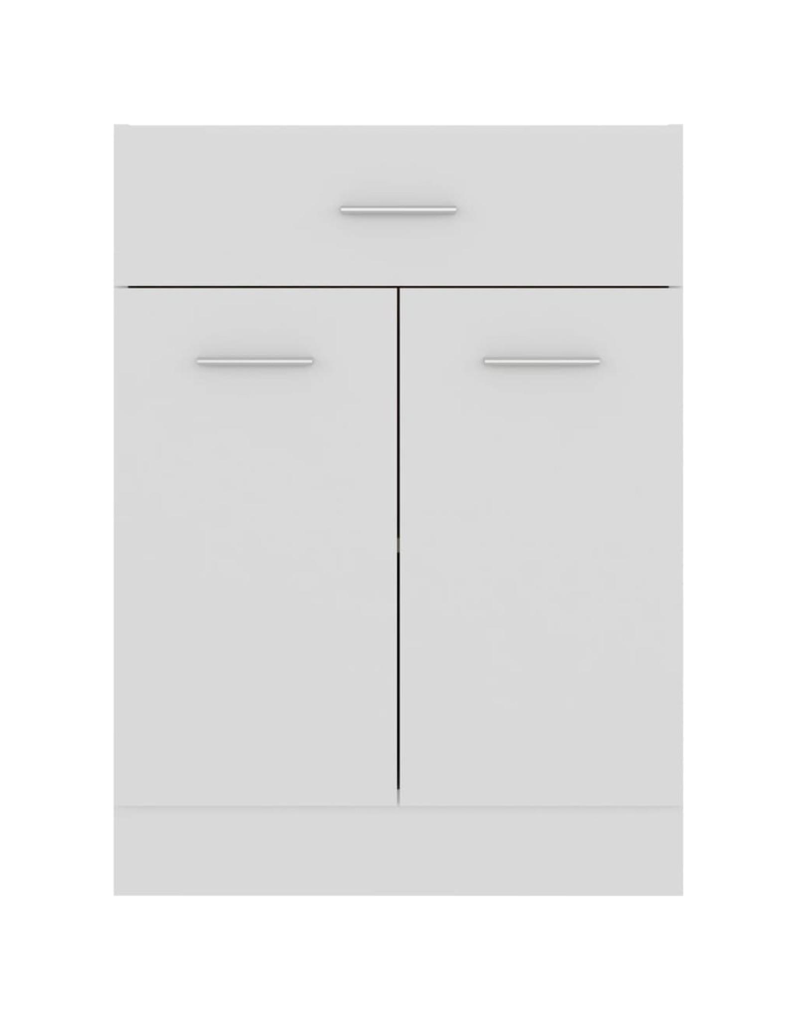 Onderkast met lade 60x46x81,5 cm spaanplaat wit