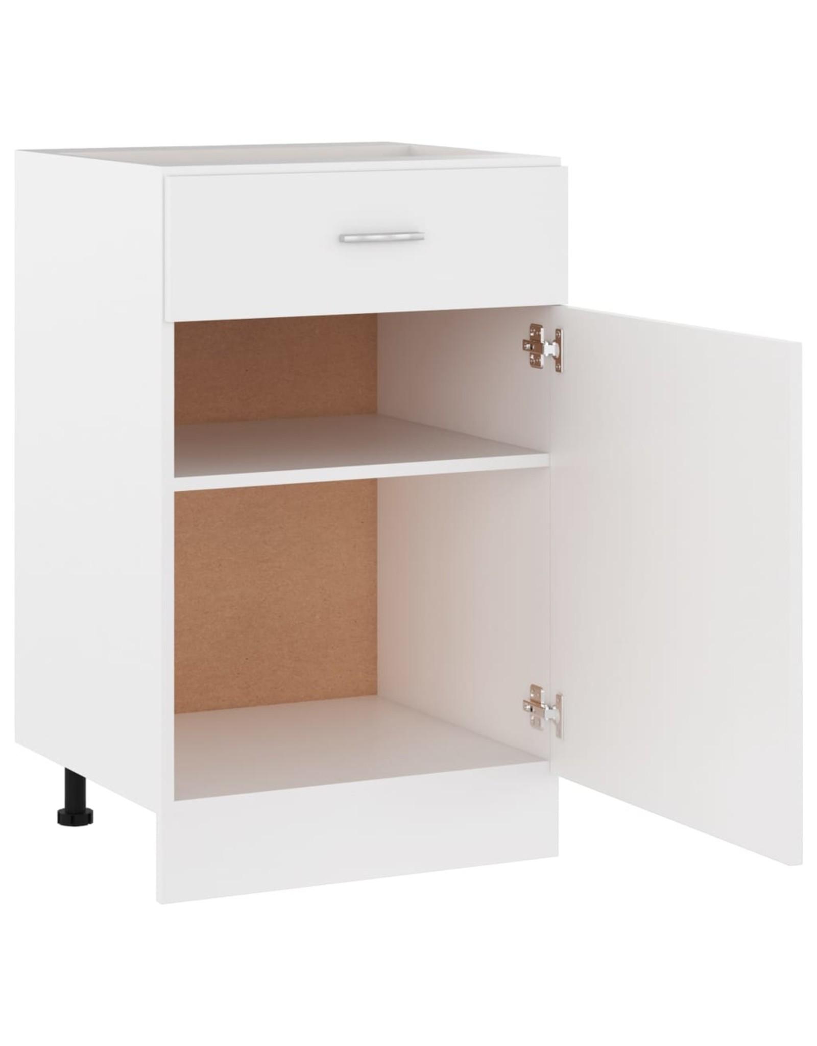 Onderkast met lade 50x46x81,5 cm spaanplaat wit