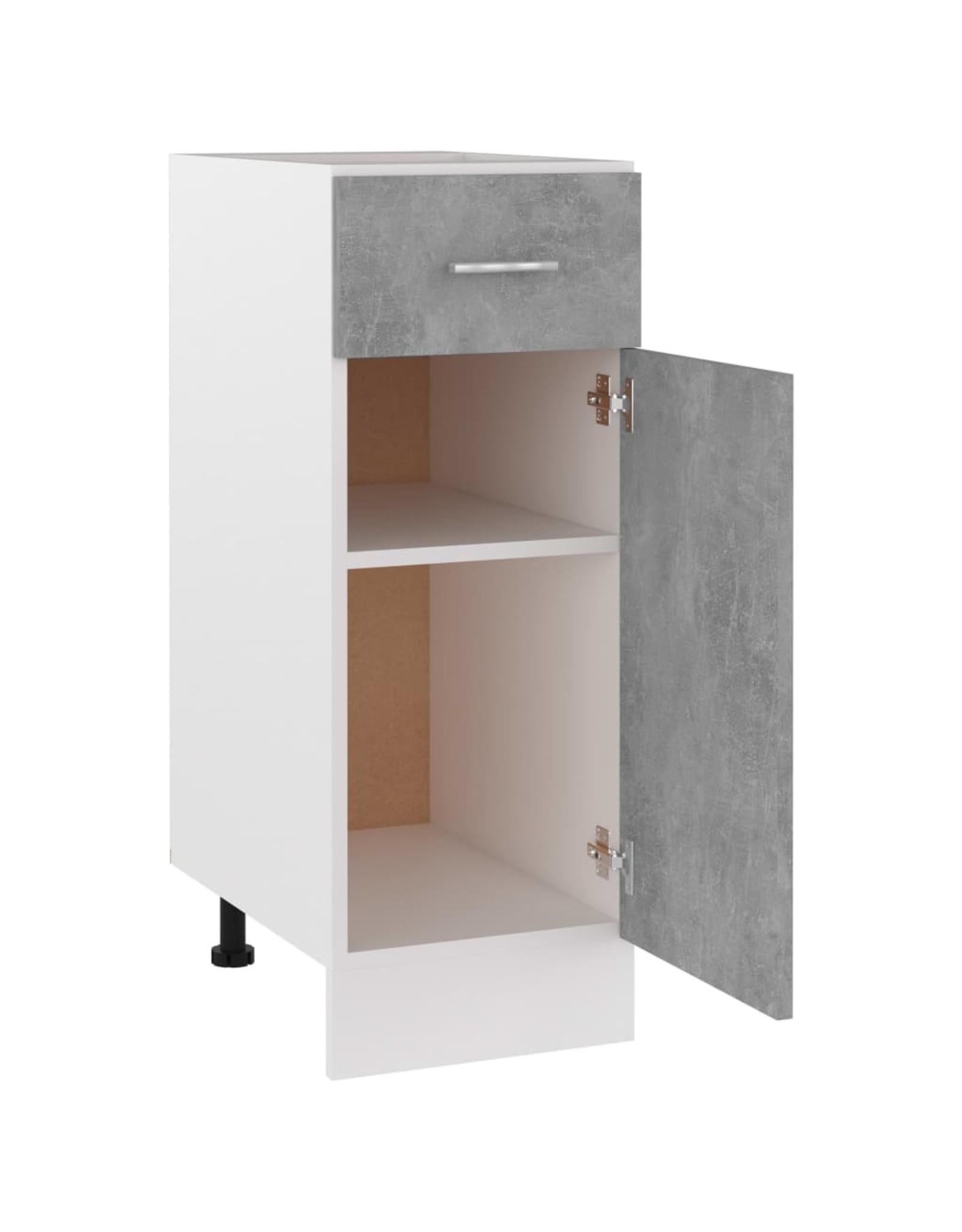 Onderkast met lade 30x46x81,5 cm spaanplaat betongrijs