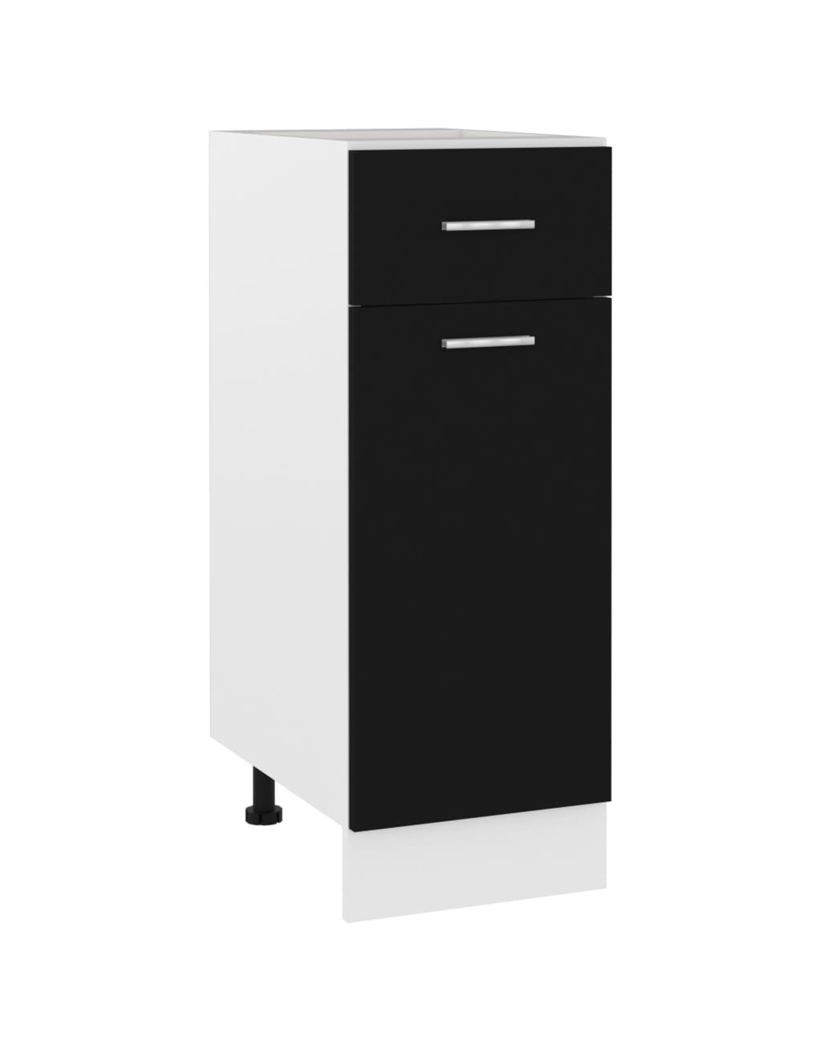 Onderkast met lade 30x46x81,5 cm spaanplaat zwart