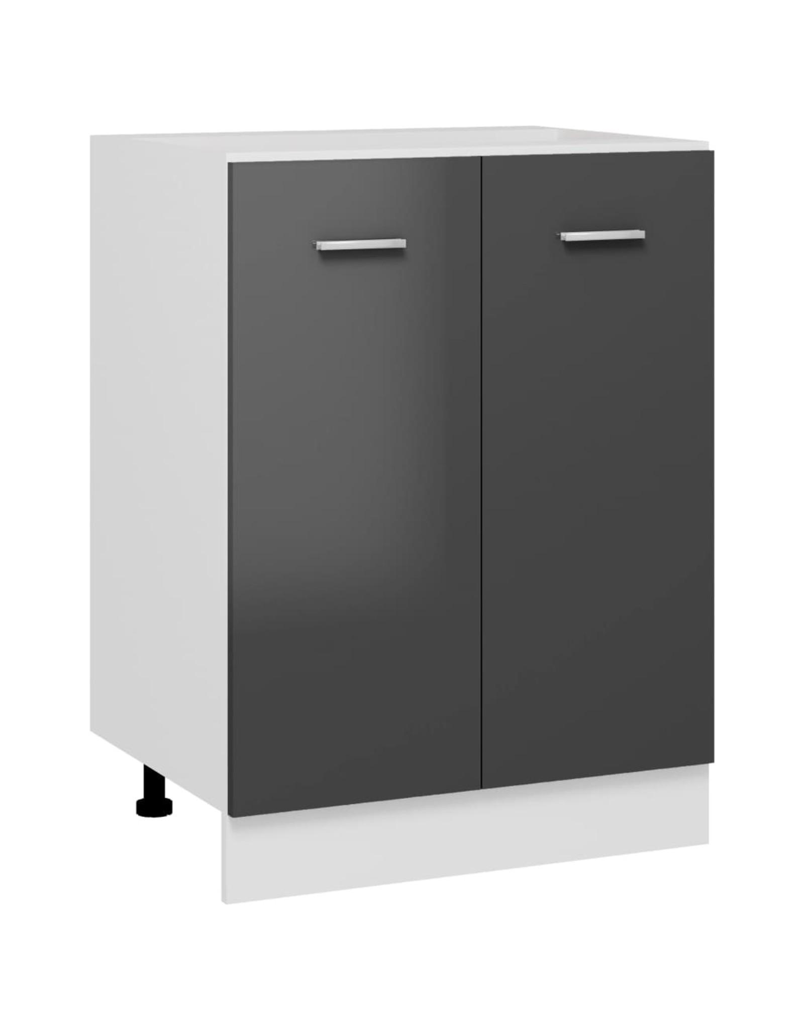 Onderkast 60x46x81,5 cm spaanplaat hoogglans grijs