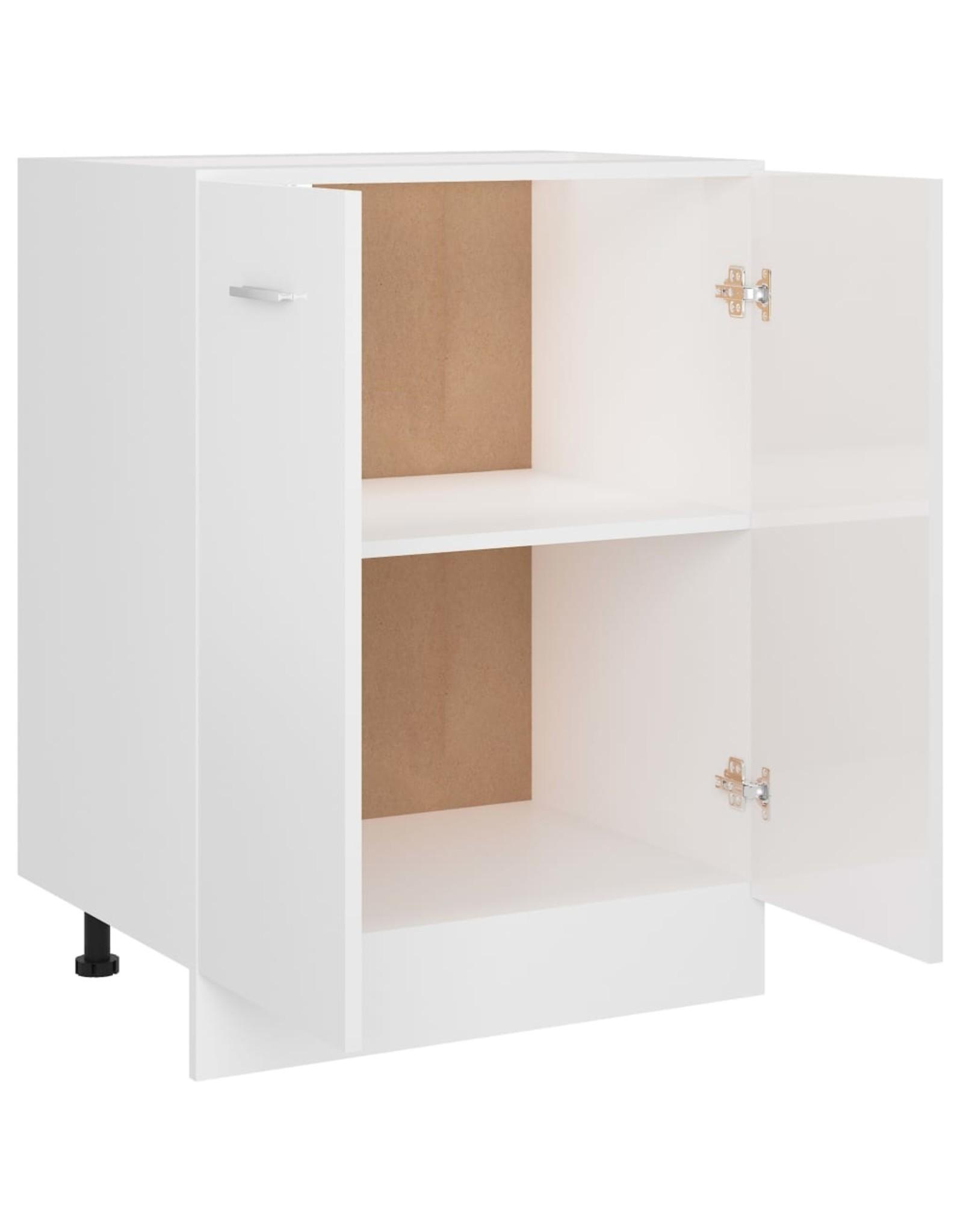 Onderkast 60x46x81,5 cm spaanplaat hoogglans wit