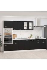 7-delige Keukenkastenset spaanplaat zwart