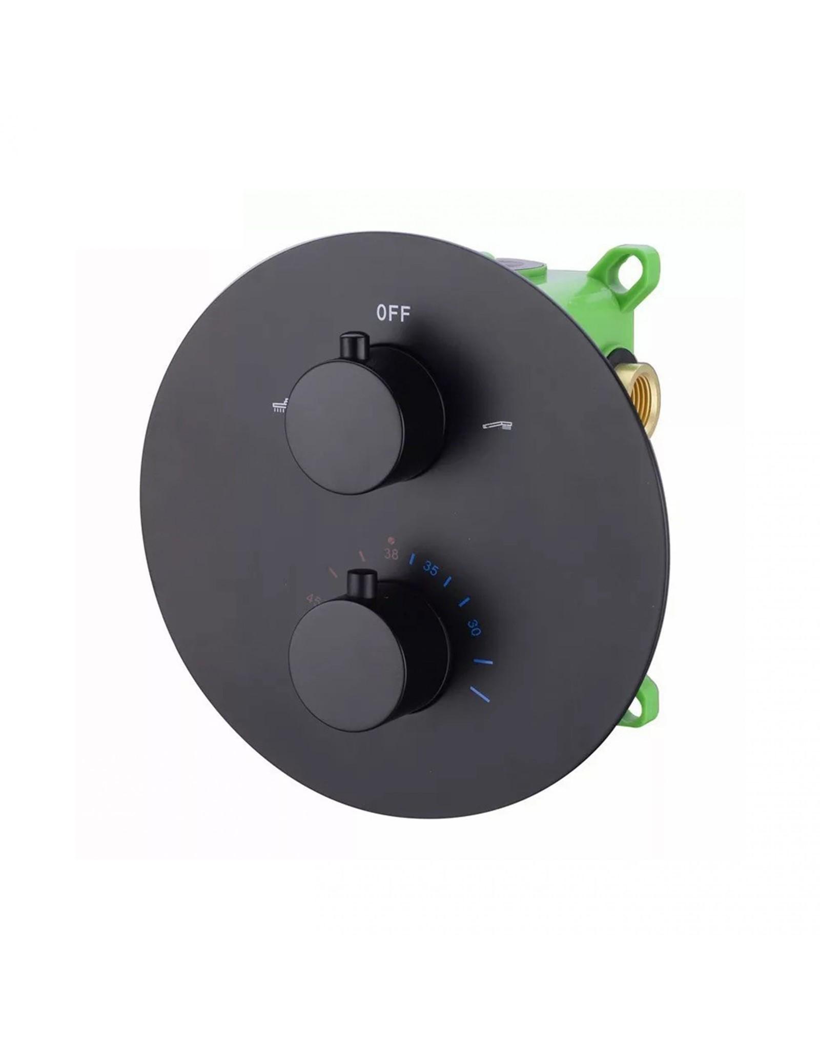 fabriecio Showerset inbouw box Thermostatisch  rond 2 functies