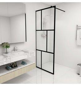 Inloopdouchewand 80x195 cm gehard glas zwart