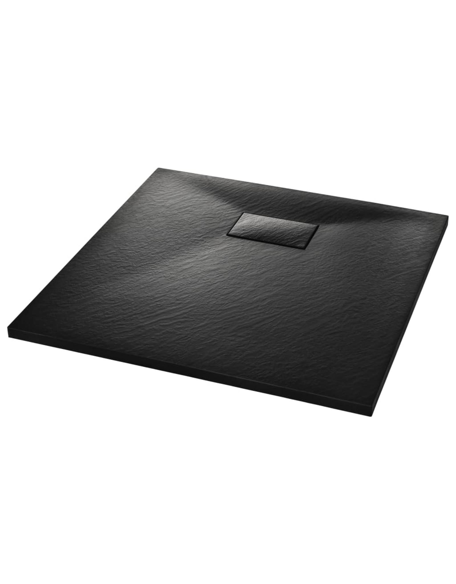 Douchebak 80x80 cm SMC zwart