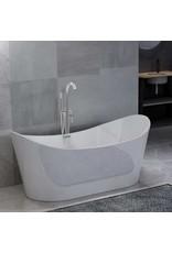 Badkuip vrijstaand met kraan 204 L 118,5 cm zilverkleurig