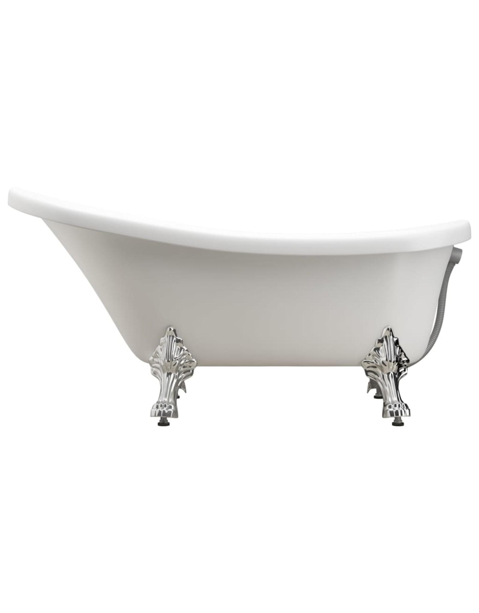 Badkuip vrijstaand met leeuwenpoten acryl wit
