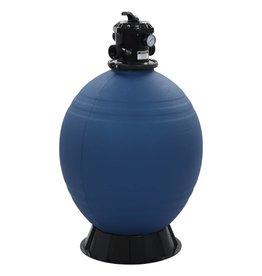 Zwembadzandfilter met 6-positie ventiel 660 mm blauw