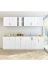 8-delige Keukenkastenset 260 cm hoogglans wit