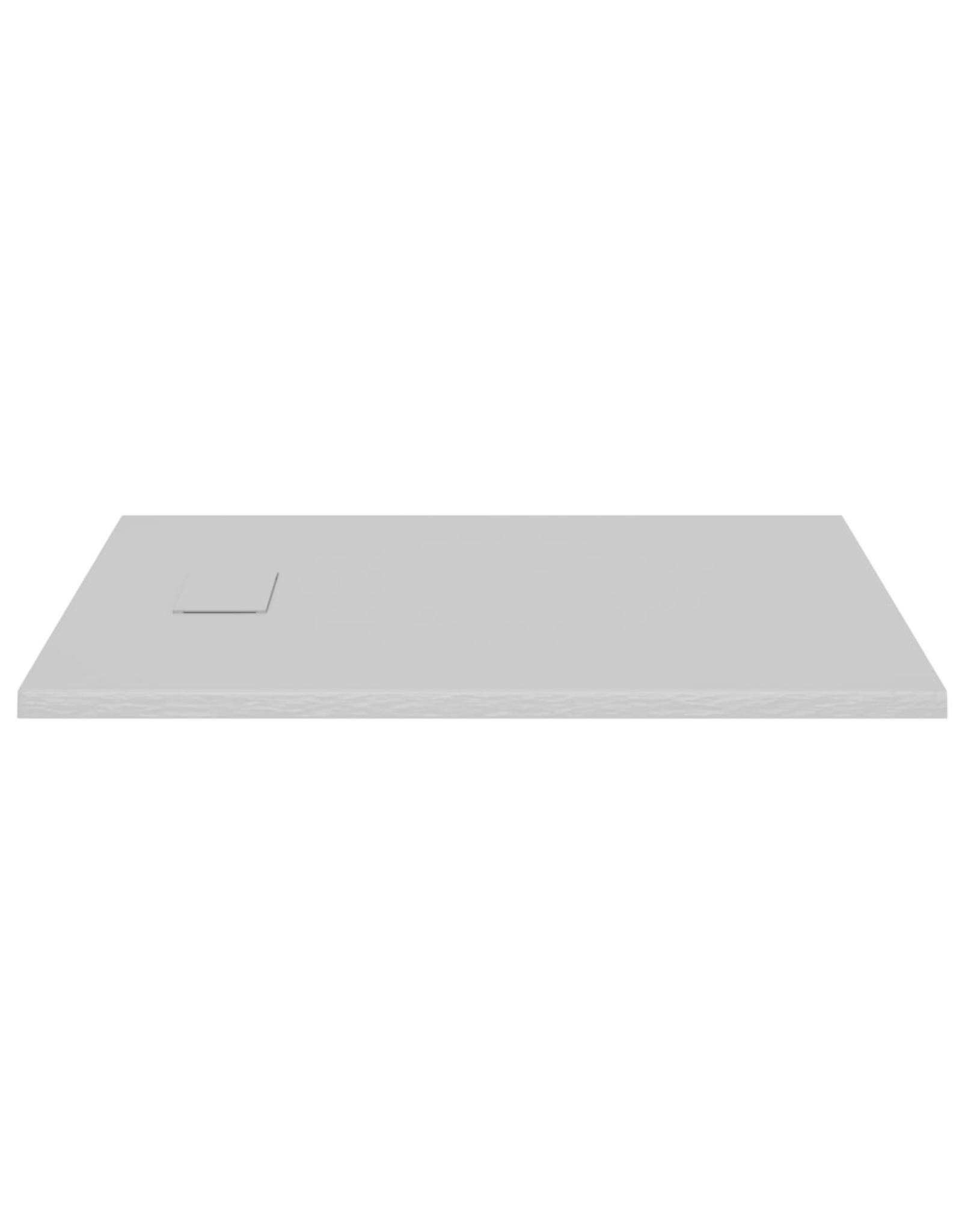 Douchebak 100x80 cm SMC grijs