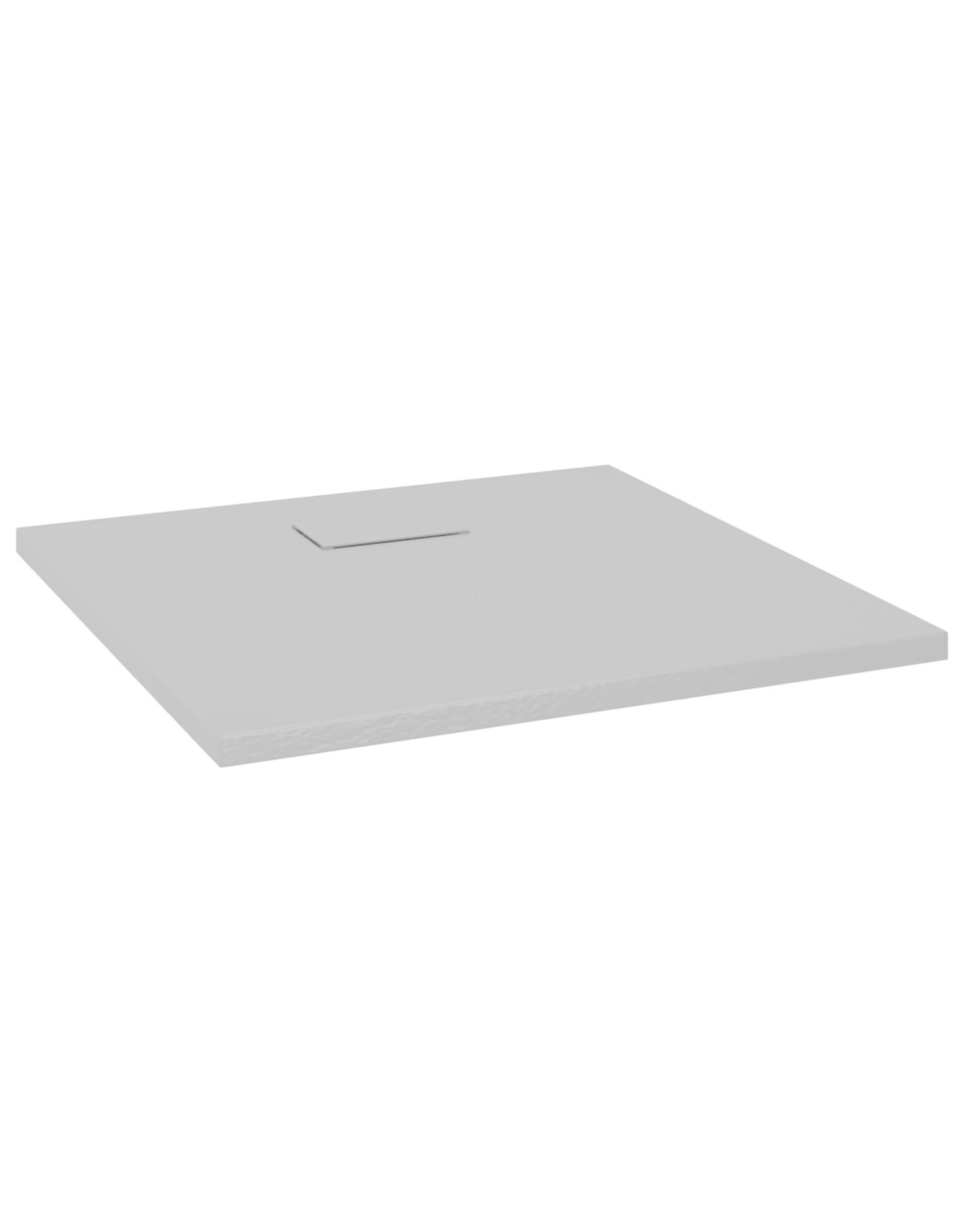 Douchebak 80x80 cm SMC grijs
