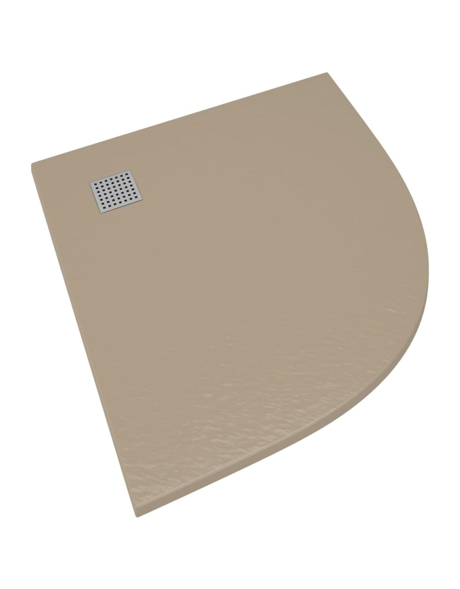 Douchebak 90x90 cm SMC bruin