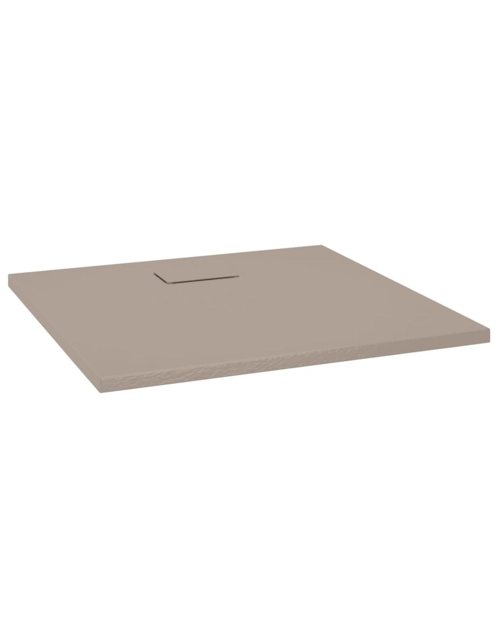 Douchebak 90x80 cm SMC bruin