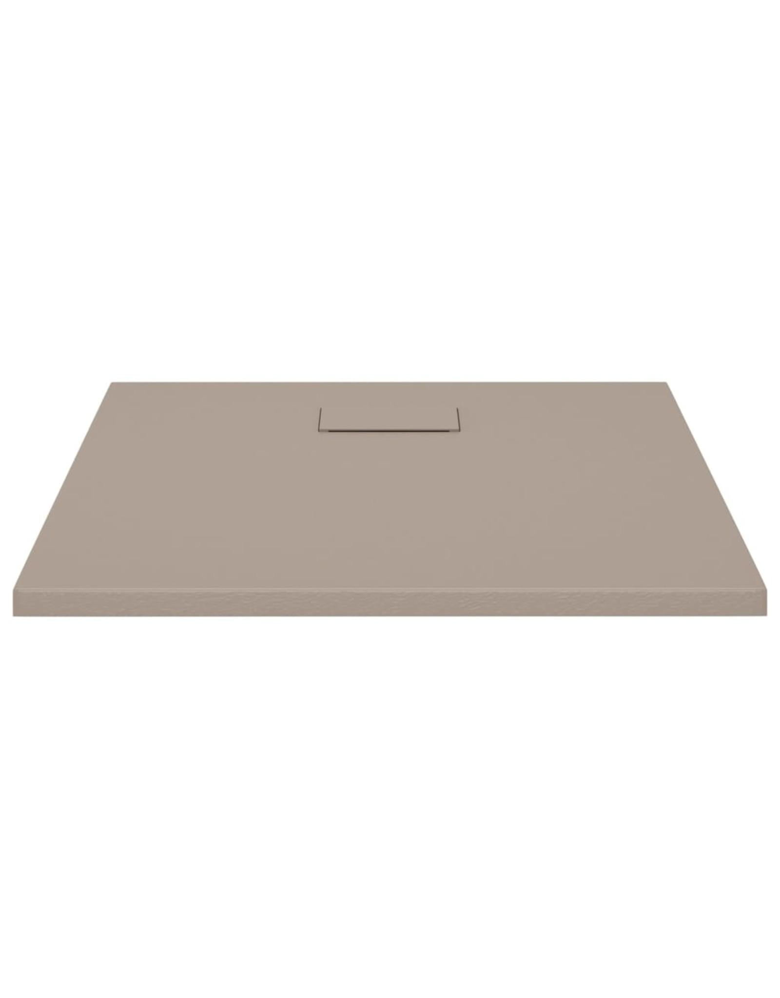 Douchebak 80x80 cm SMC bruin