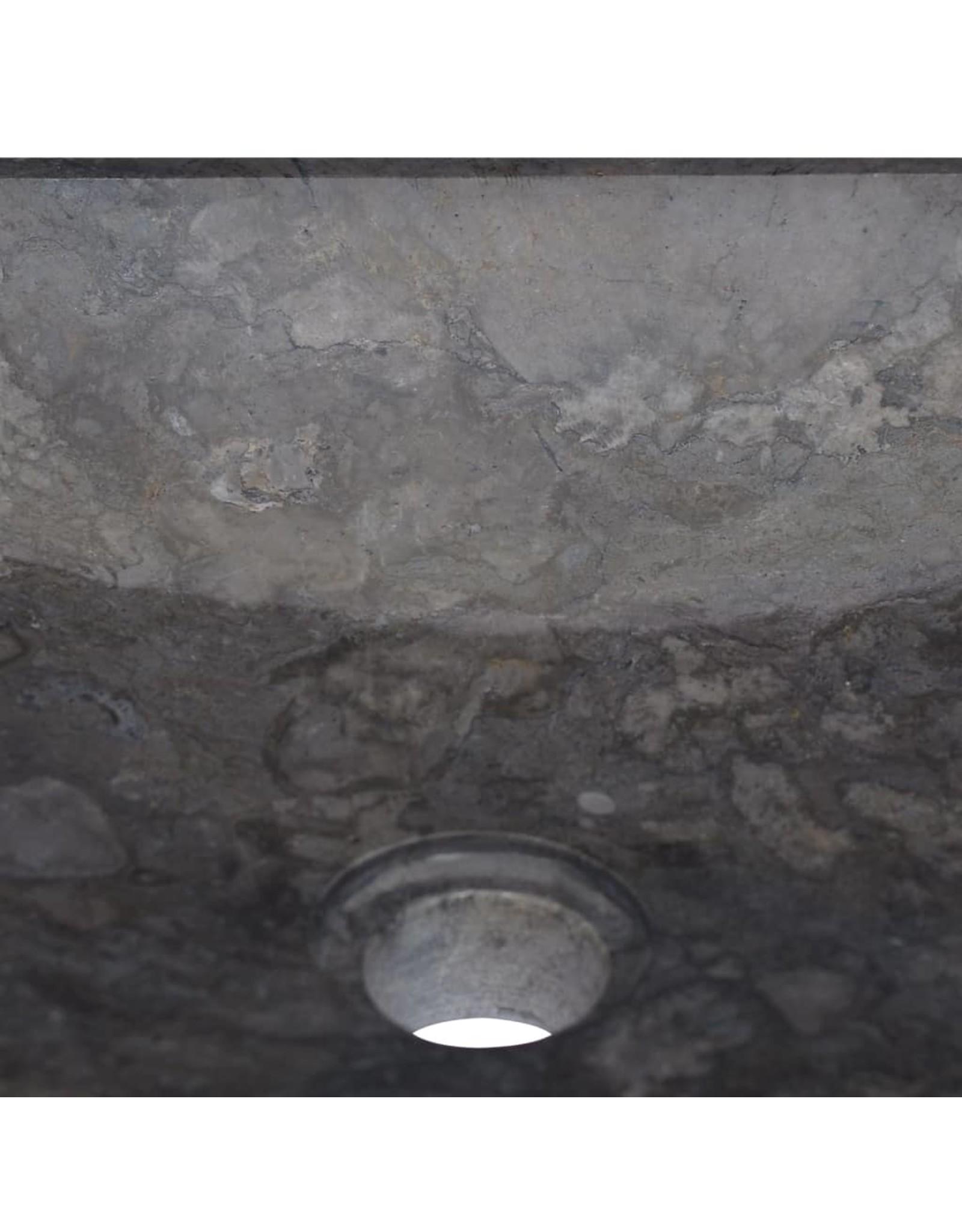 Gootsteen 40x40x10 cm marmer zwart