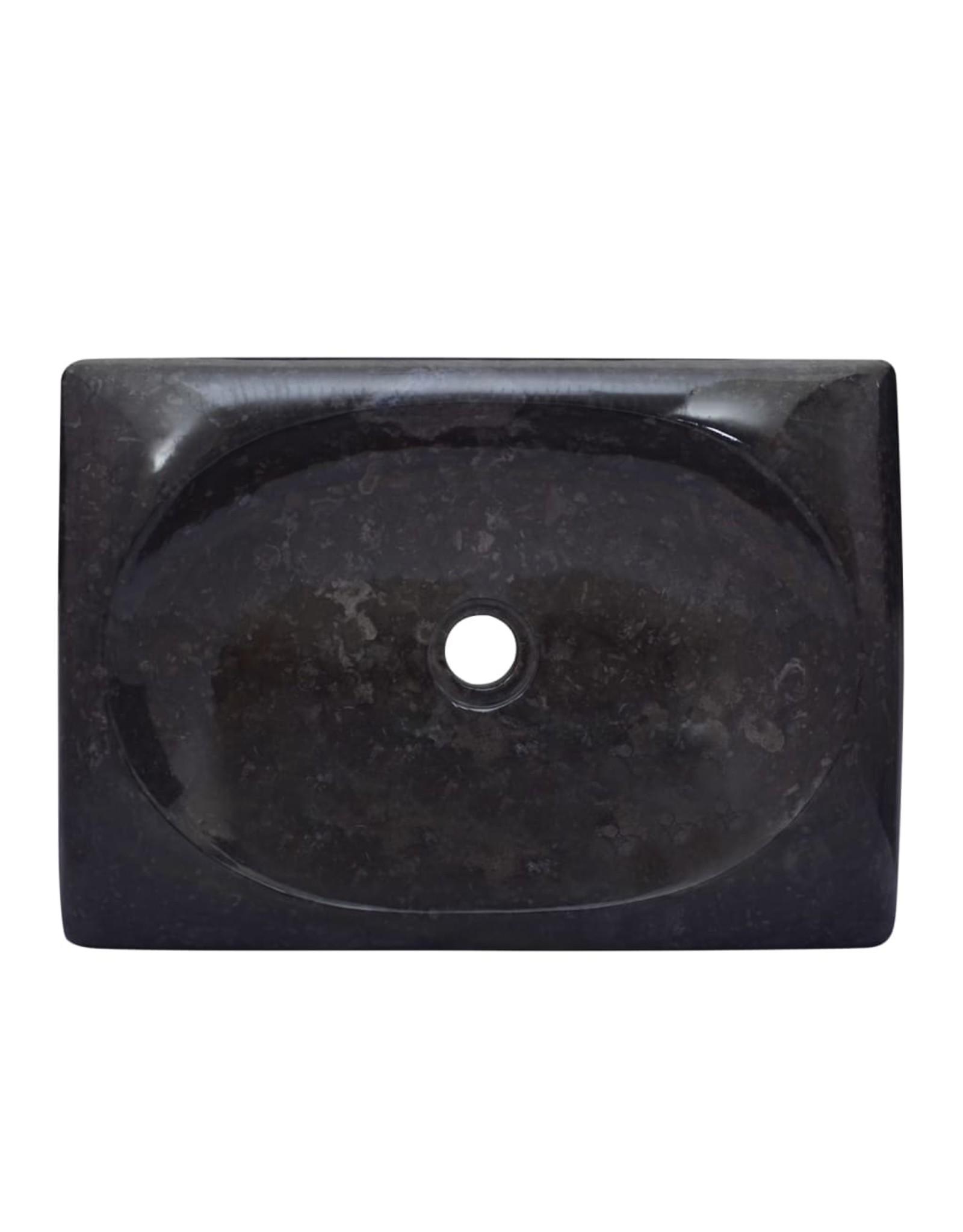 Gootsteen 50x35x10 cm marmer zwart
