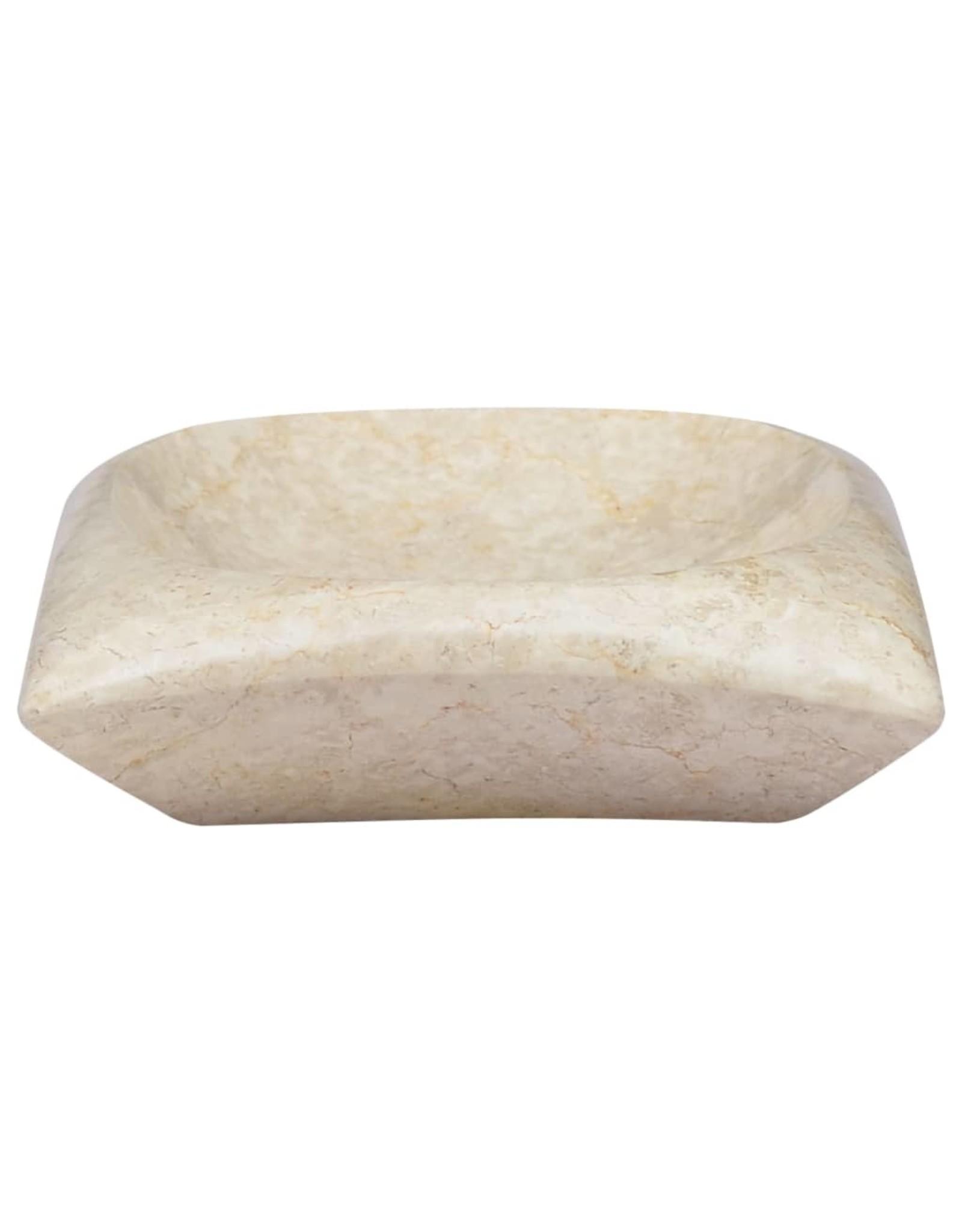 Gootsteen 50x35x10 cm marmer crèmekleurig
