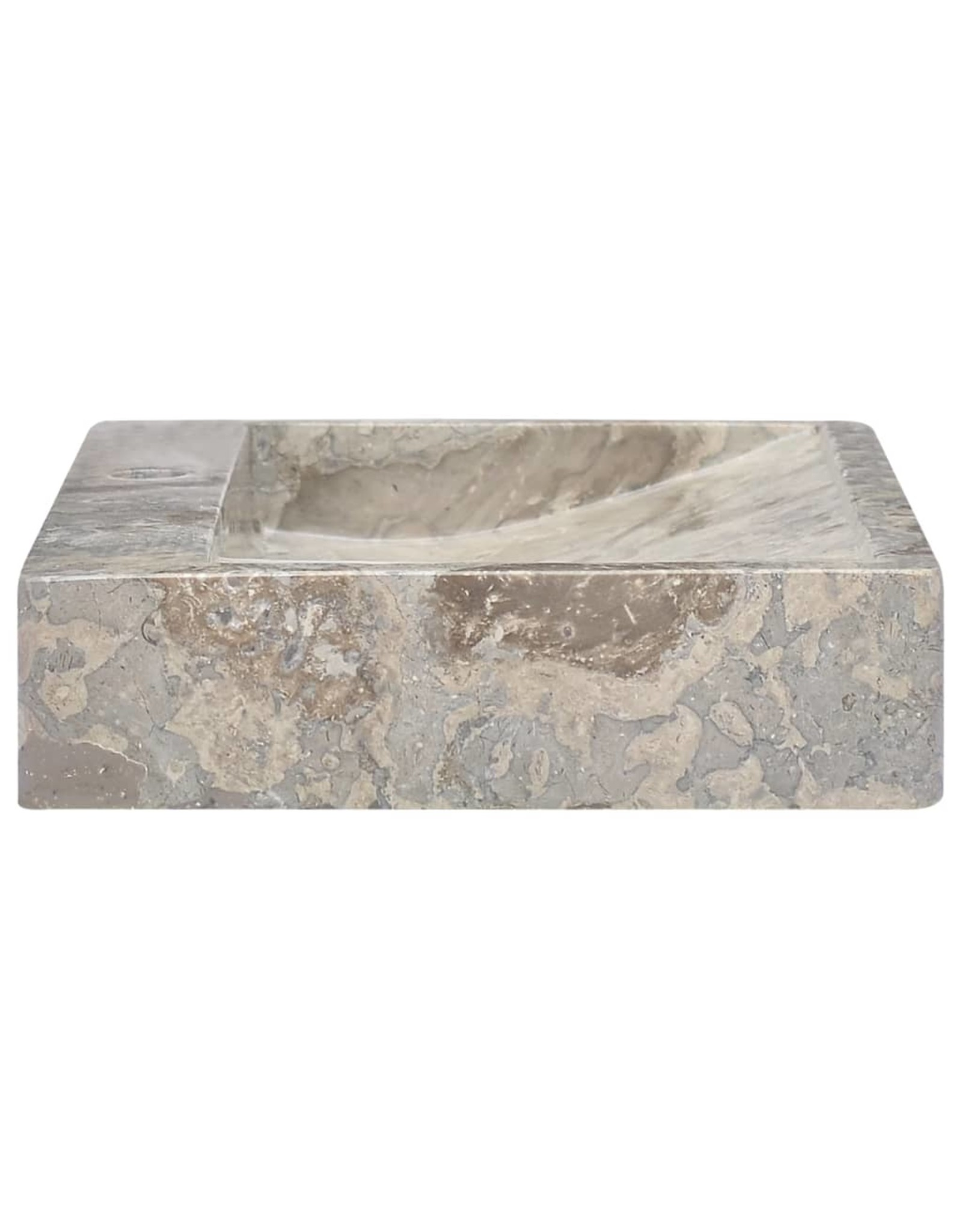 Gootsteen 58x39x10 cm marmer grijs