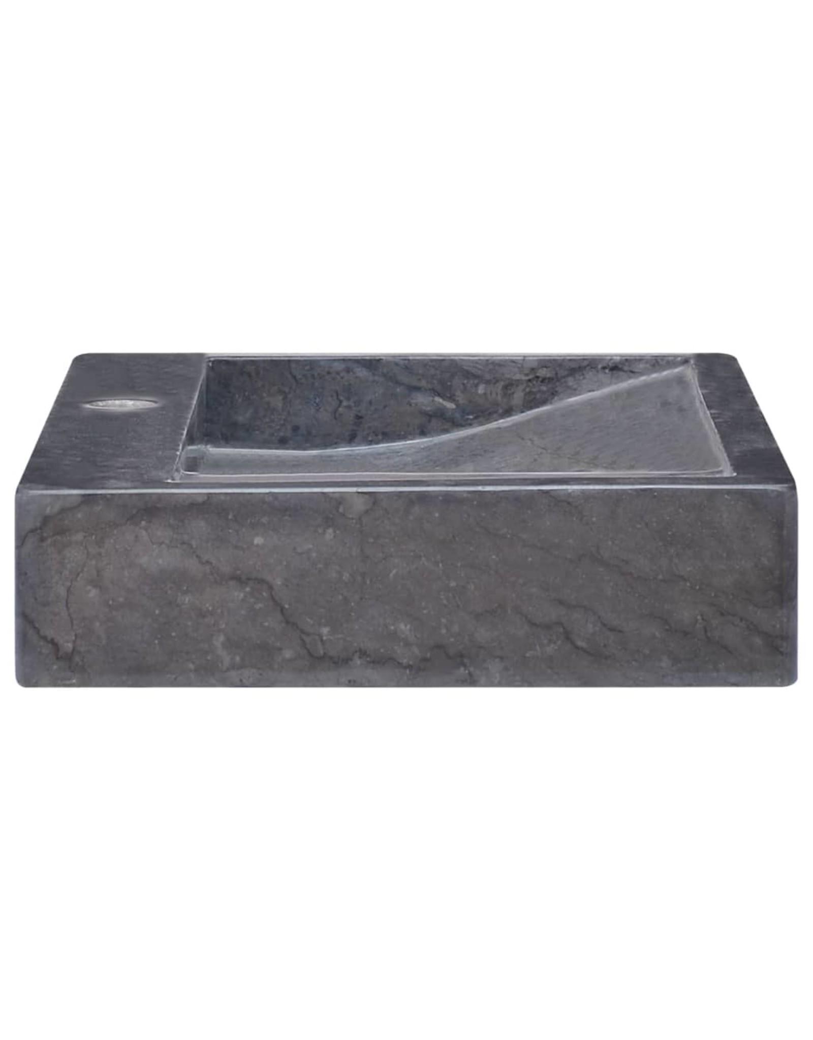 Gootsteen 58x39x10 cm marmer zwart