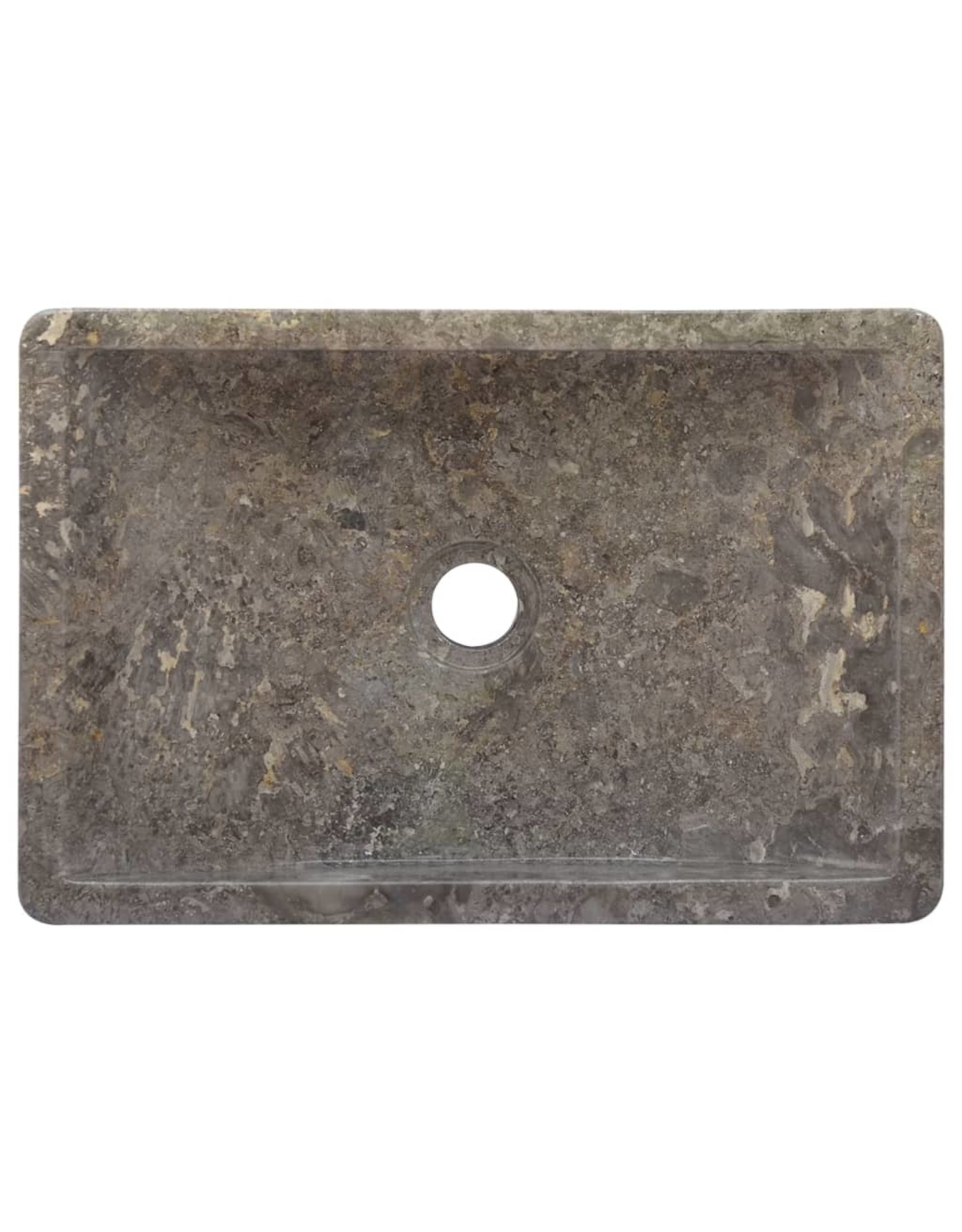 Gootsteen 45x30x12 cm marmer grijs