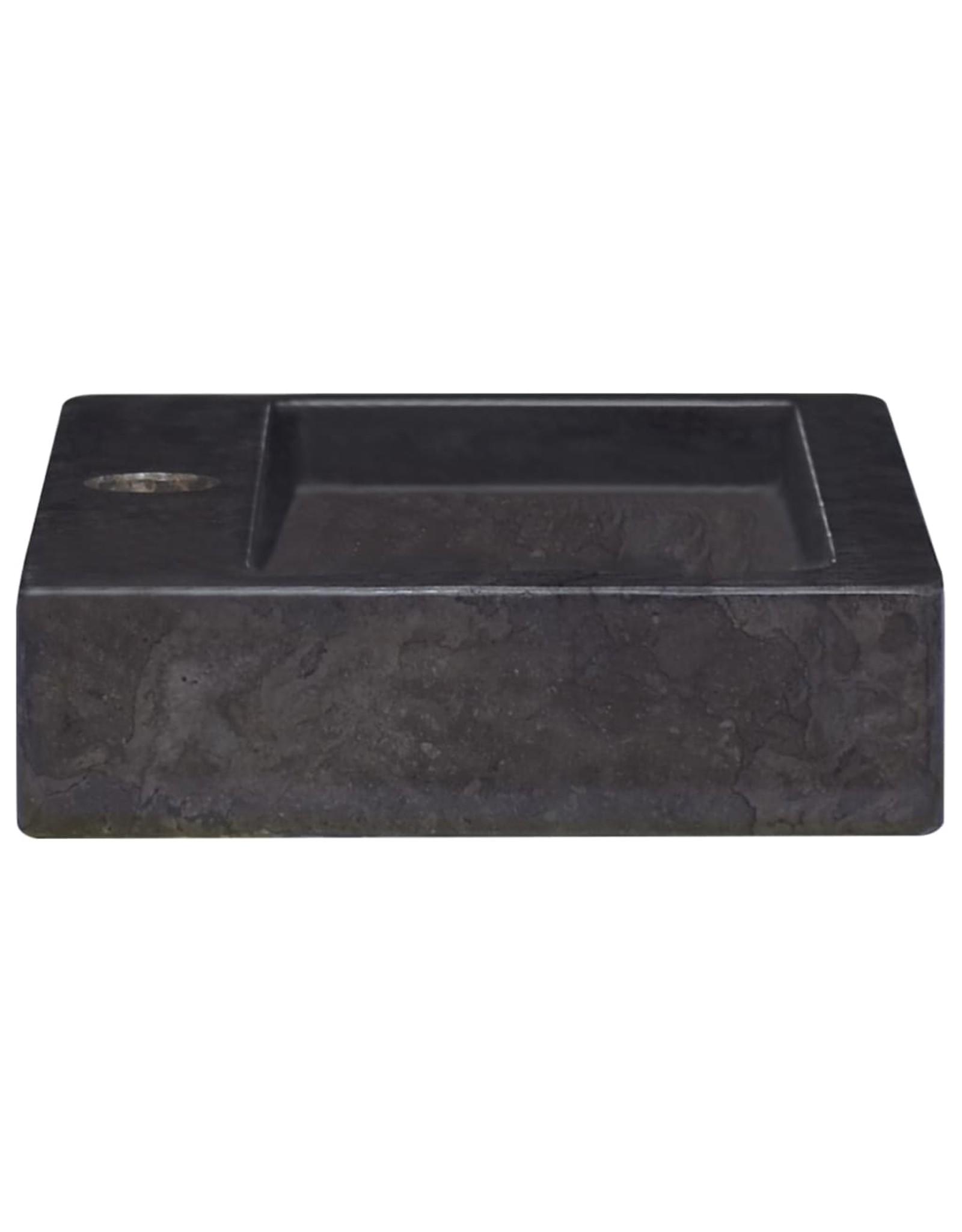 Gootsteen 38x24x6,5 cm marmer zwart