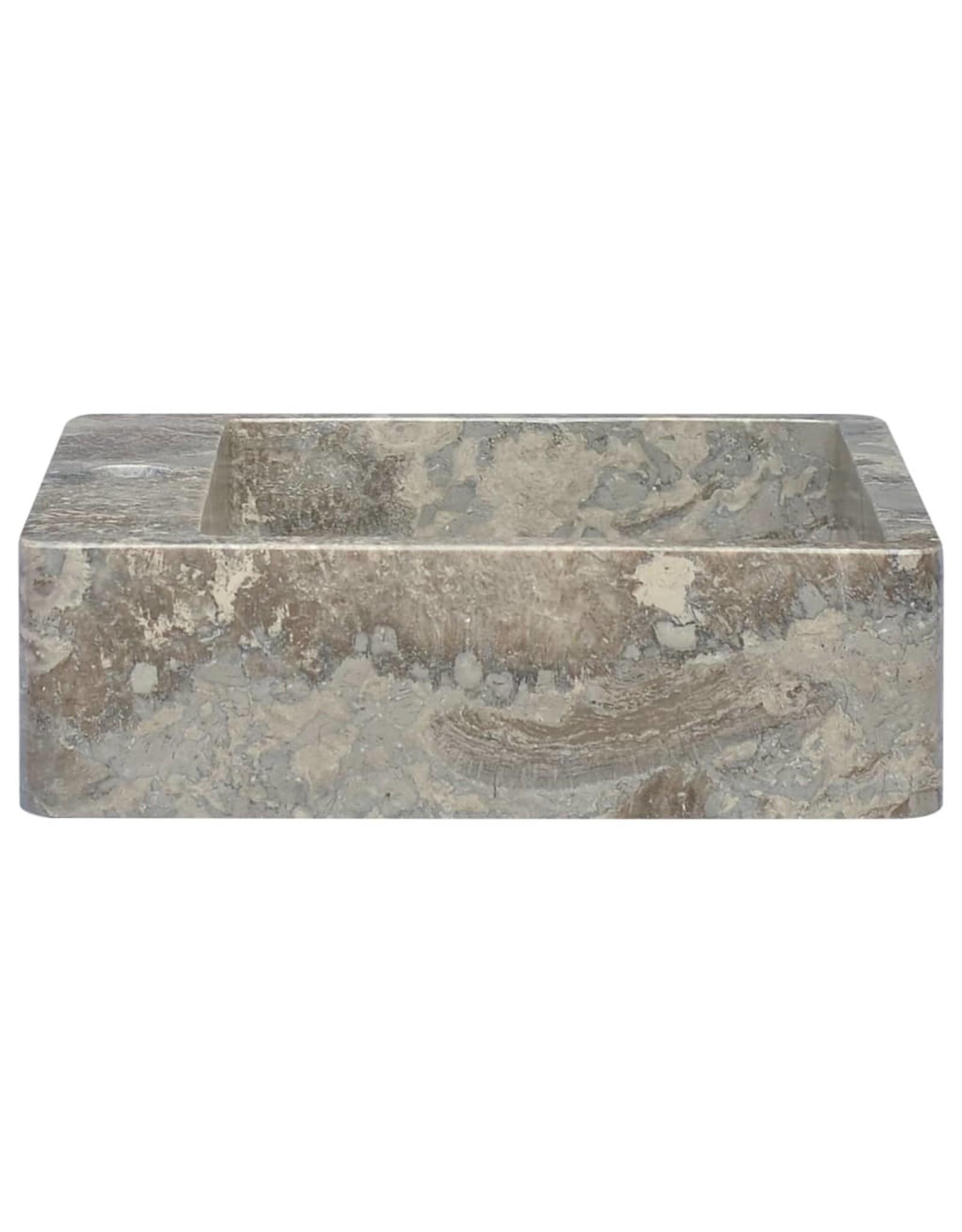 Gootsteen 40x40x12 cm marmer grijs