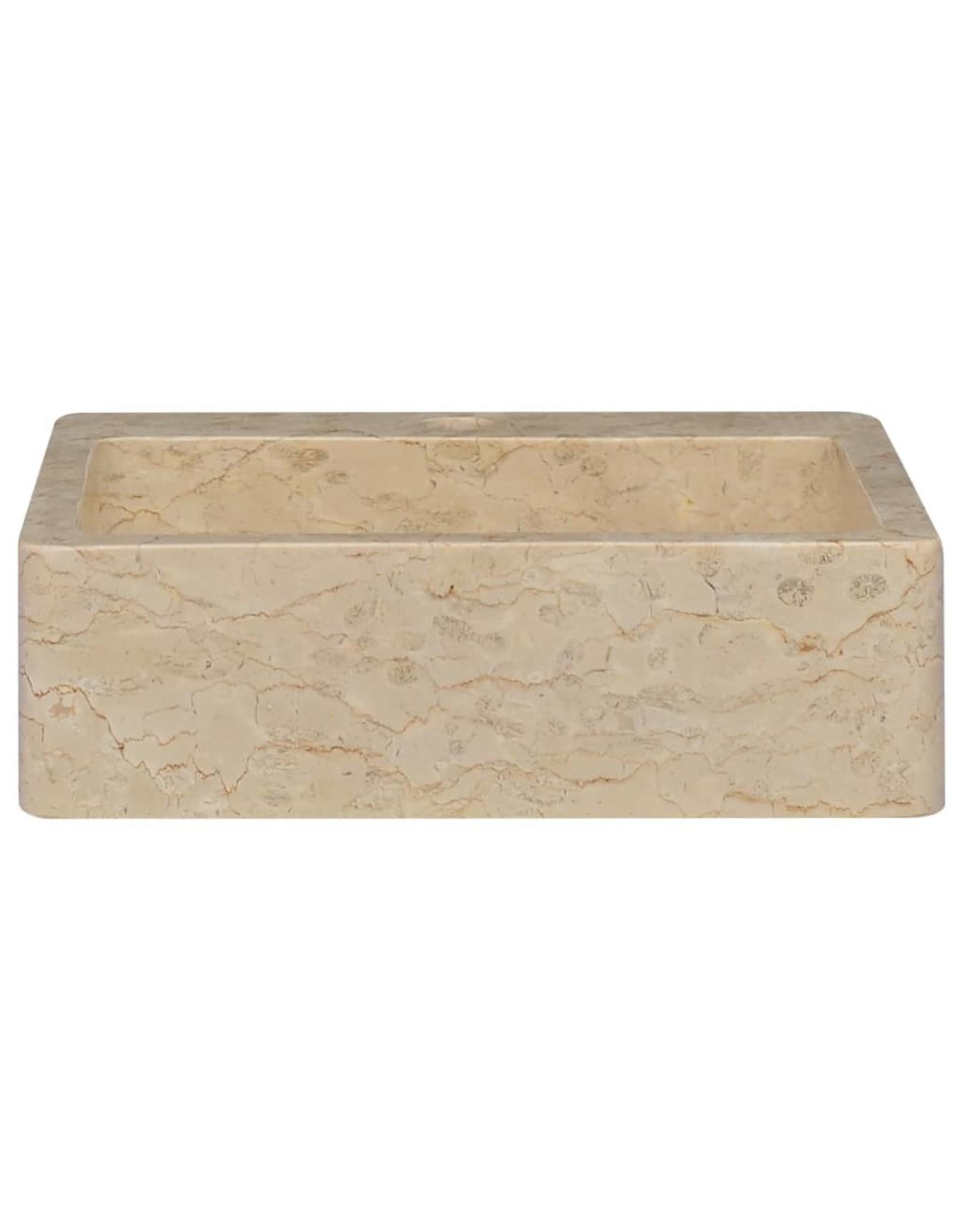 Gootsteen 40x40x12 cm marmer crèmekleurig