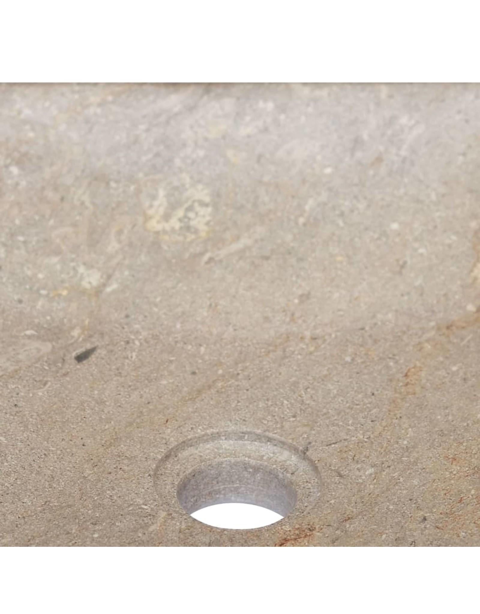 Gootsteen 40x40x10 cm marmer grijs