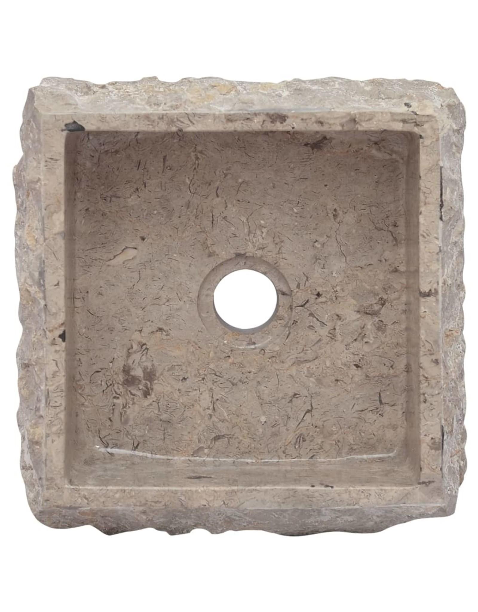 Gootsteen 30x30x13 cm marmer grijs