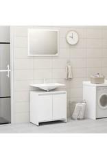 3-delige Badkamermeubelset spaanplaat hoogglans wit