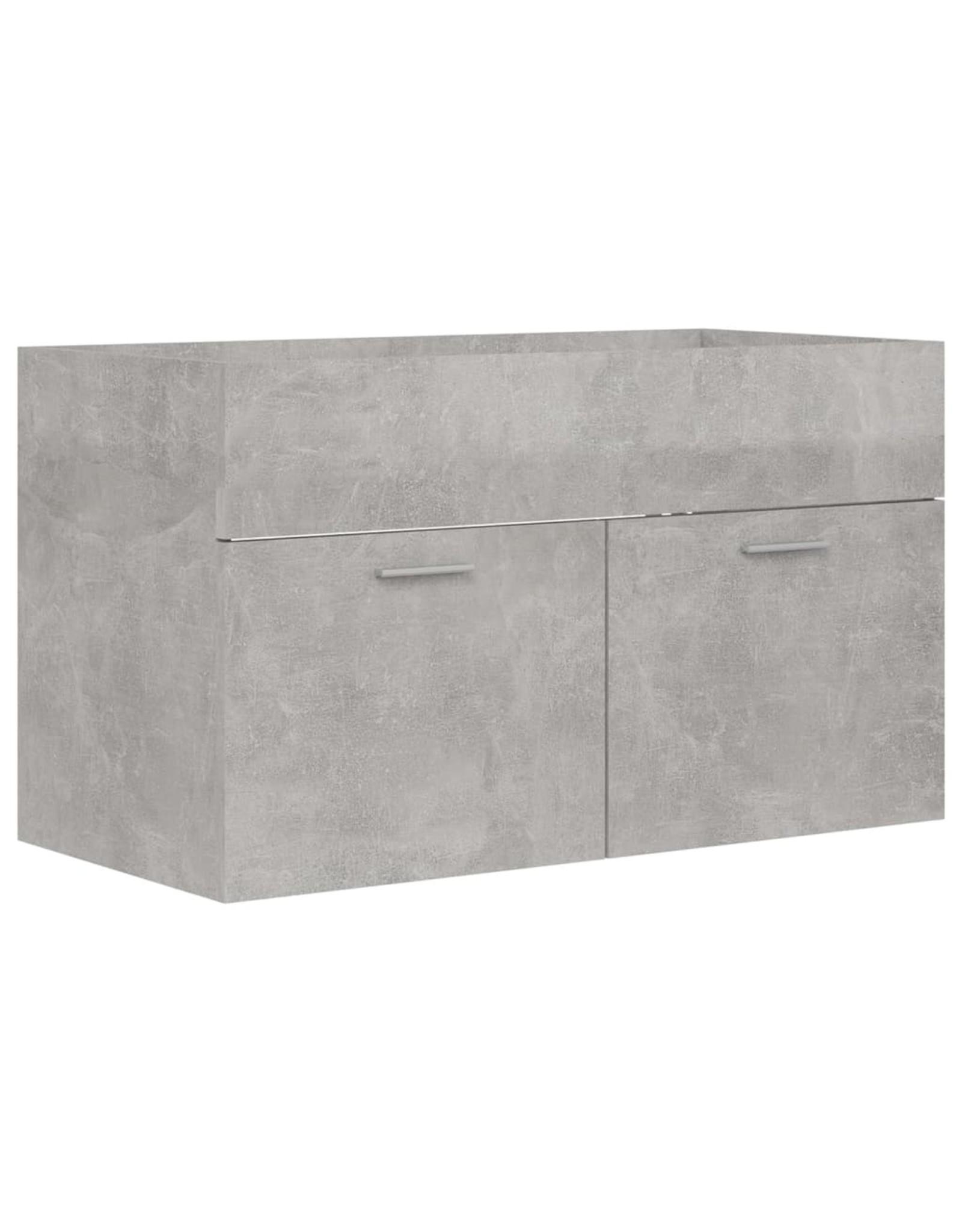 Badkamermeubelset spaanplaat betongrijs