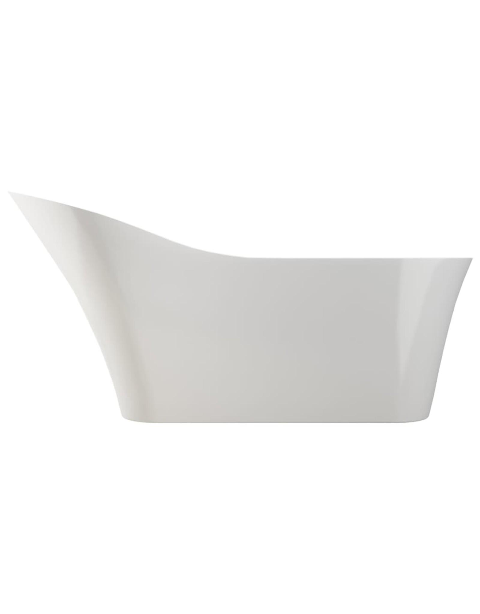 Badkuip vrijstaand met kraan 210 L 110 cm zilverkleurig