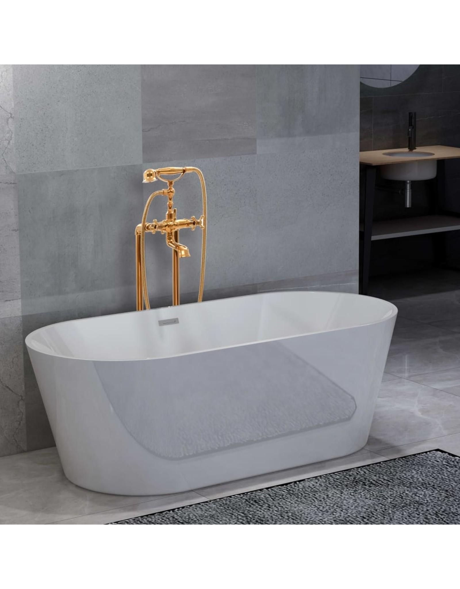 Badkuip vrijstaand met kraan 220 L 99,5 cm goudkleurig
