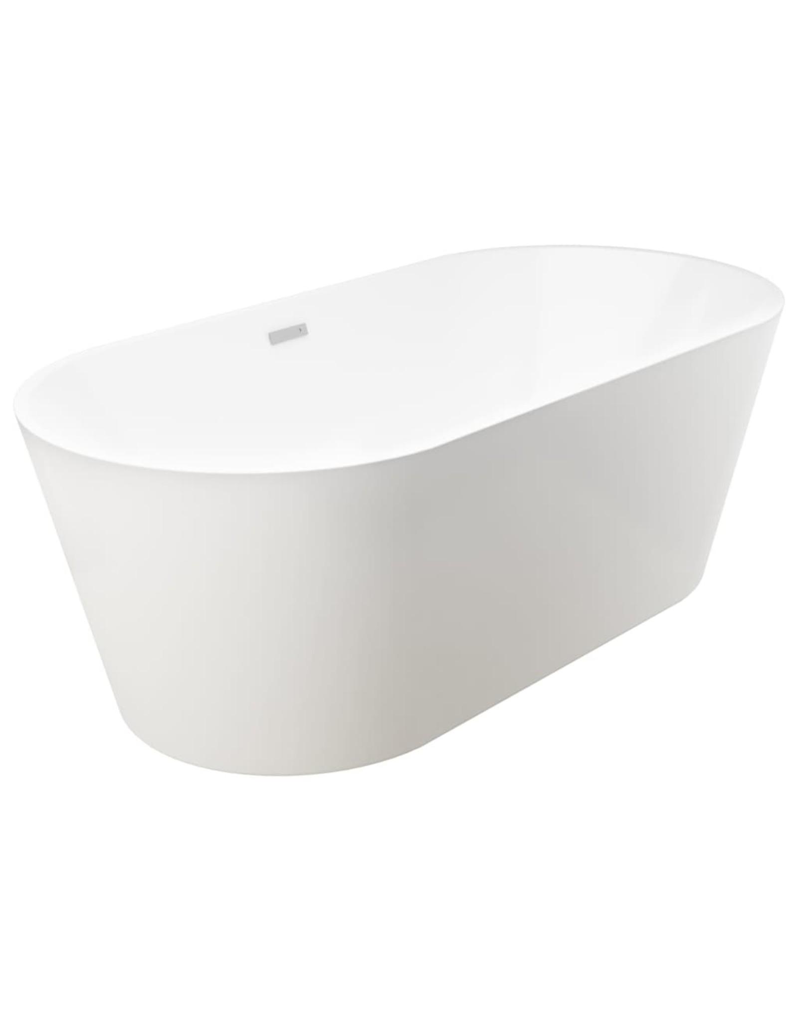 Badkuip vrijstaand met kraan 220 L 99,5 cm zilverkleurig