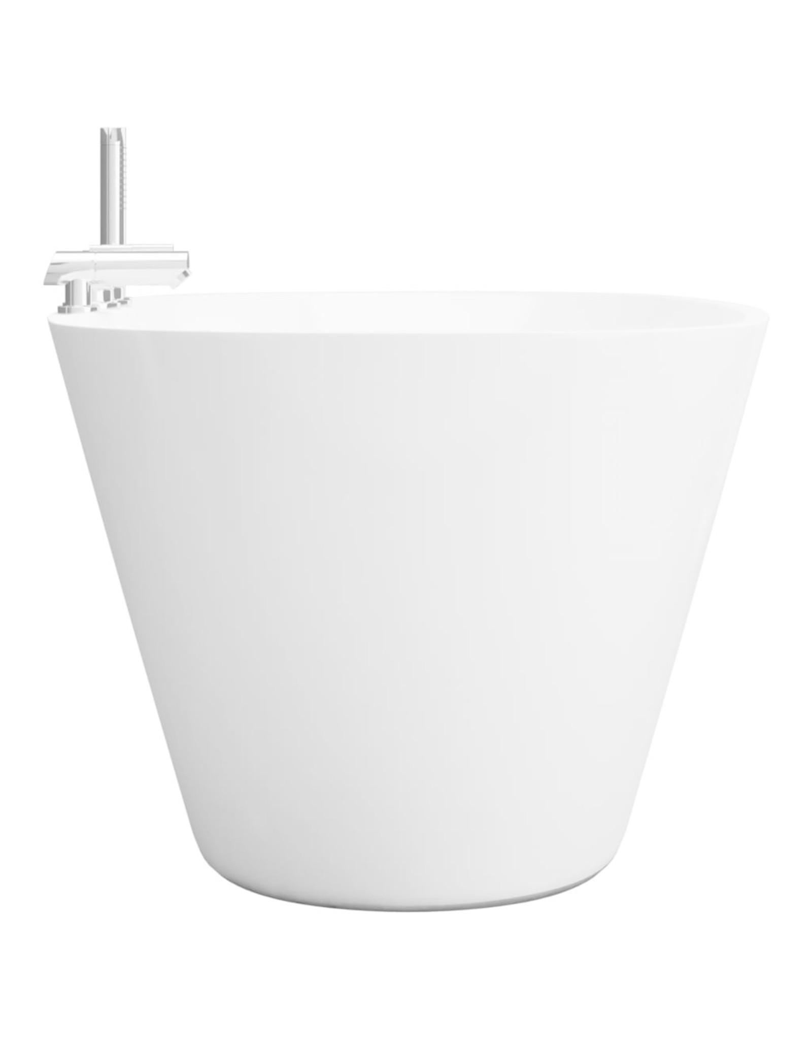 Badkuip vrijstaand met kraan 204 L acryl wit