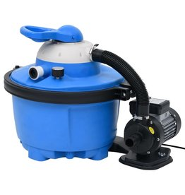 Zandfilterpomp 200 W 25 L 385x620x432 mm blauw en zwart