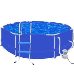 Zwembad rond 300 cm met ladder filterpomp 300 gal/h