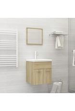 2-delige Badkamermeubelset spaanplaat sonoma eikenkleurig
