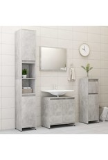 Badkamerkast 30x30x95 cm spaanplaat betongrijs