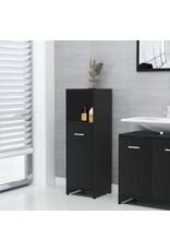 4-delige Badkamermeubelset spaanplaat zwart