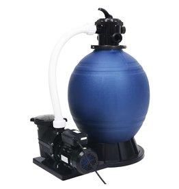 Zandfilter met 7 instellingen en 1000 W pomp blauw en zwart