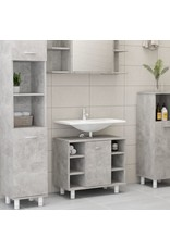 Badkamerkast 60x32x53,5 cm spaanplaat betongrijs