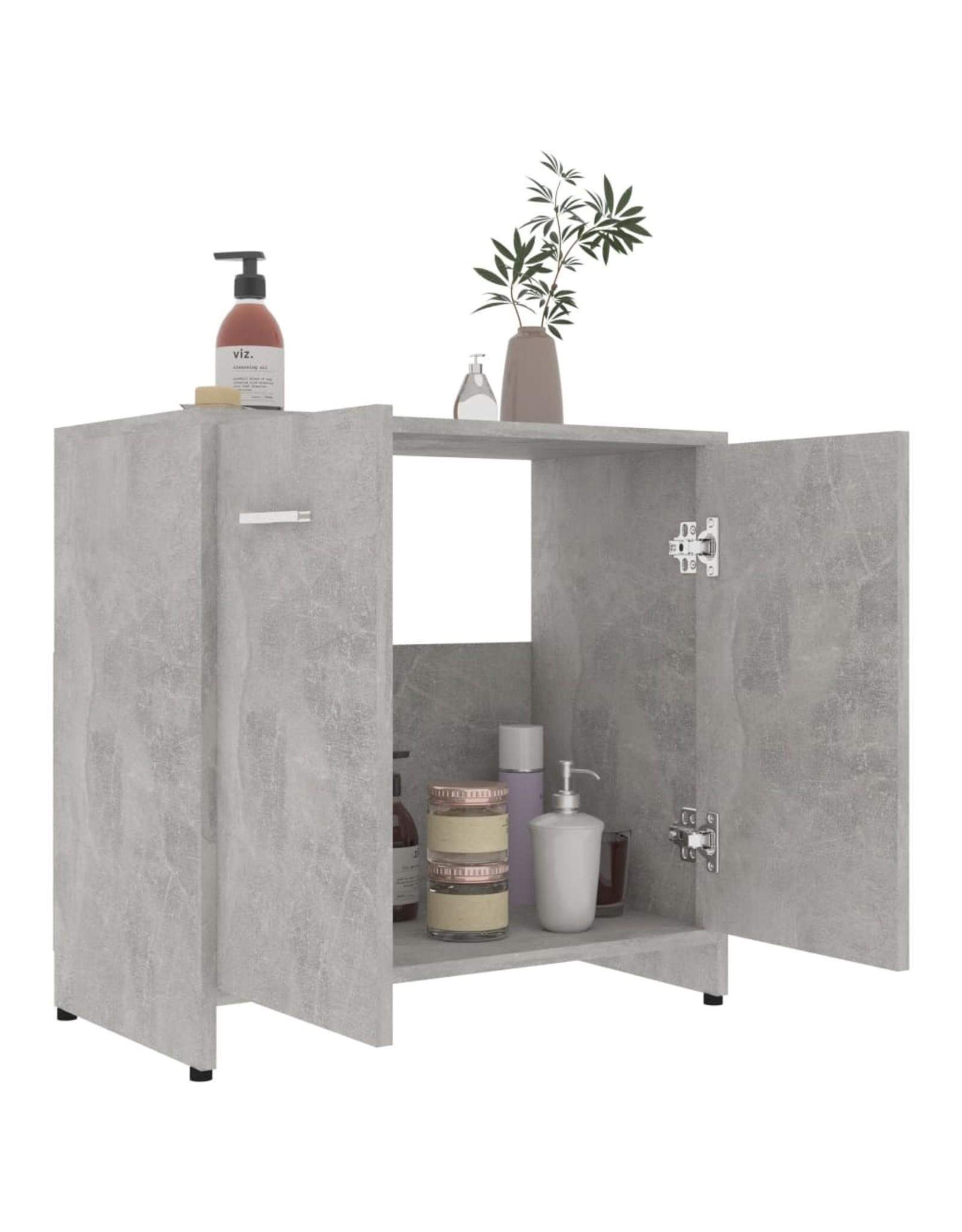 Badkamerkast 60x33x58 cm spaanplaat betongrijs