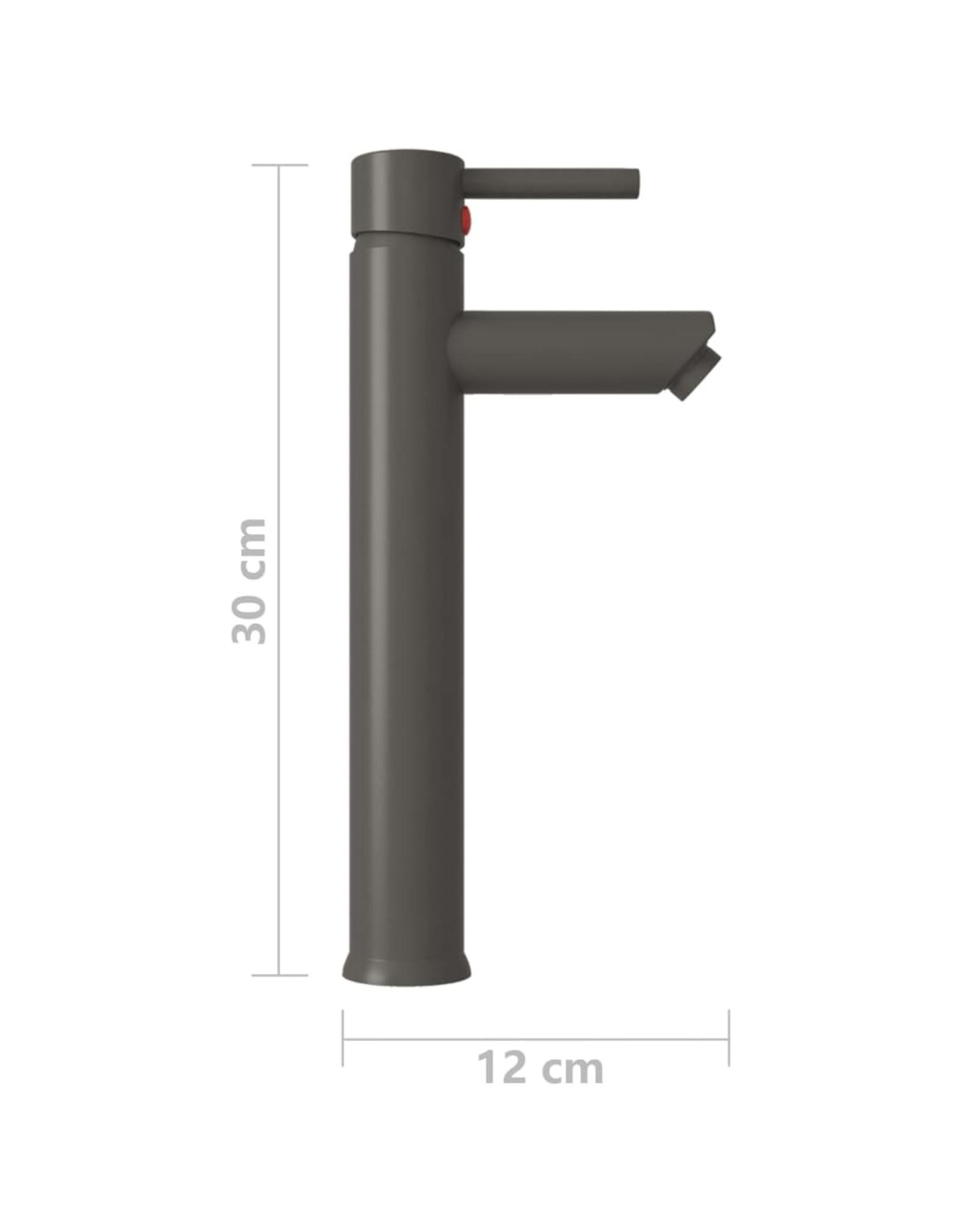 Badkamermengkraan 12x30 cm grijs