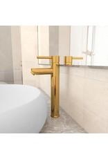 Badkamermengkraan 12x30 cm goudkleurig