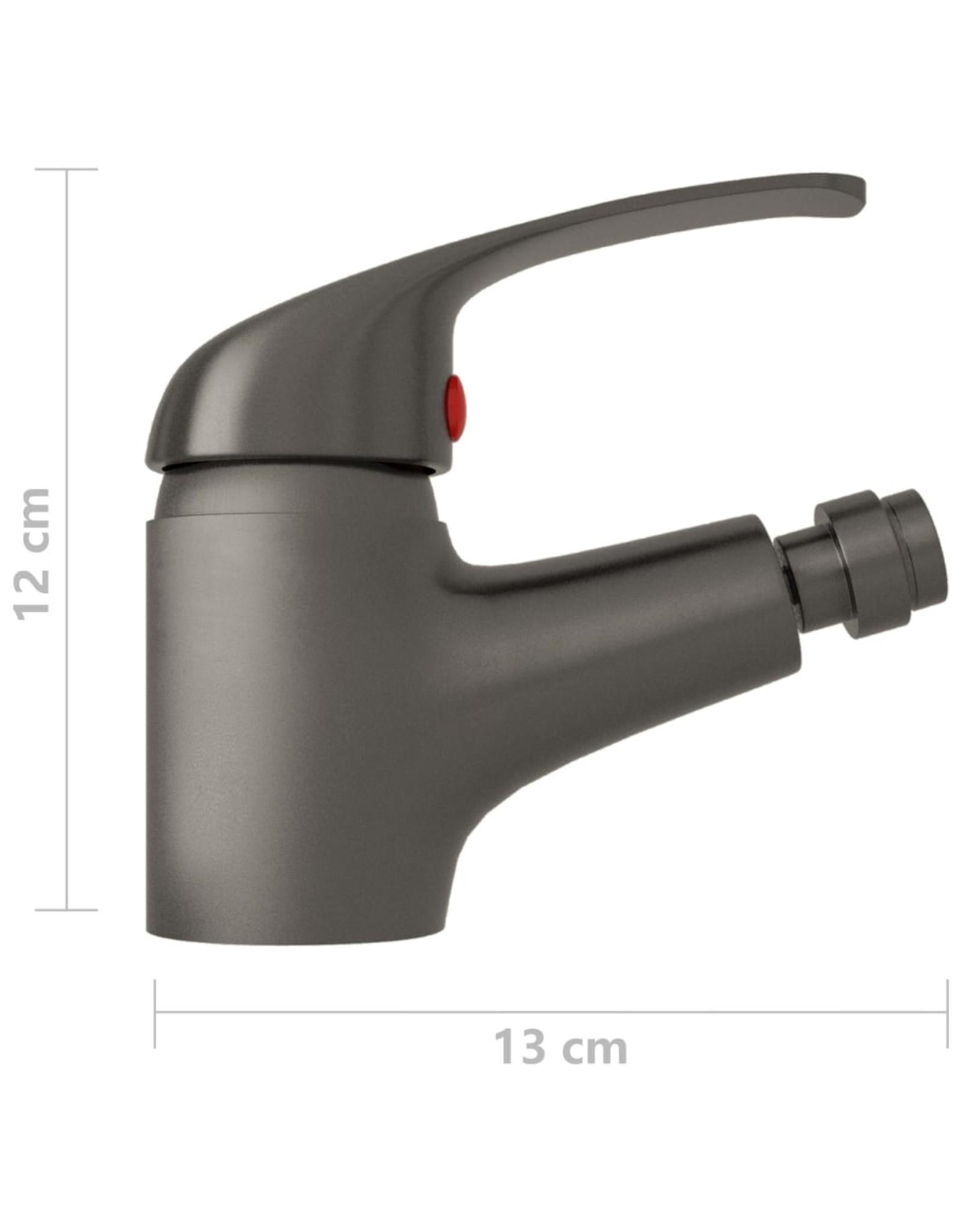 Bidetkraan 13x12 cm grijs