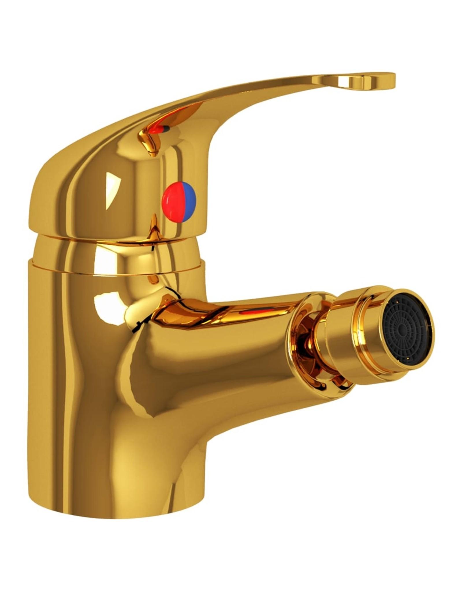 Bidetkraan 13x12 cm goudkleurig