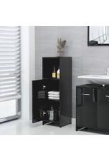 4-delige Badkamermeubelset spaanplaat hoogglans zwart